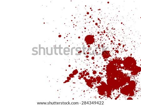dark red splash on white