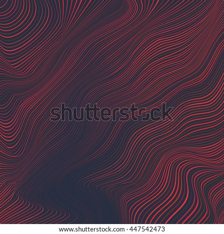 dark red striped wavy vector