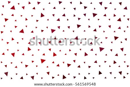 Dark Red vector abstract colorful background, which consist of triangles. Pattern with colored triangles on white background.