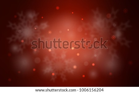 Dark Red vector layout with bright snowflakes. Shining colored illustration with snow in christmas style. The pattern can be used for new year ad, booklets. #1006156204