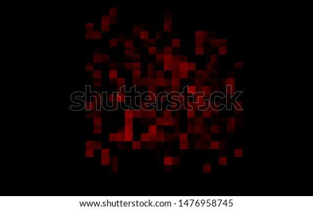 Dark Red vector layout with lines, rectangles. Rectangles on abstract background with colorful gradient. The template can be used as a background.