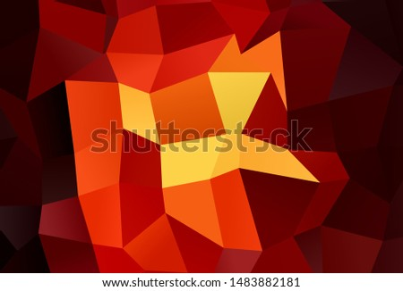 Dark Red vector layout with lines, rectangles. Rectangles on abstract background with colorful gradient. Pattern can be used for websites.