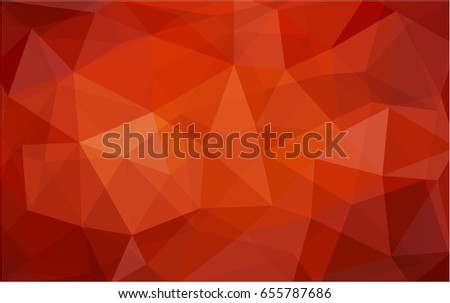 dark red vector low poly