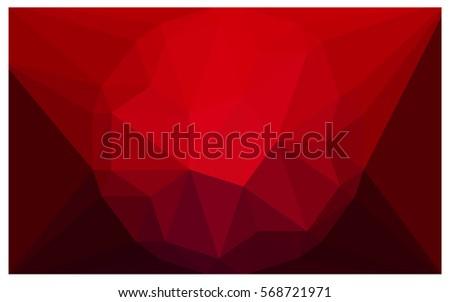 dark red vector polygonal