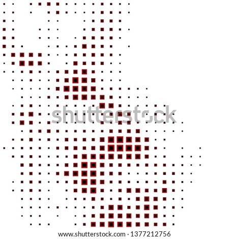 Dark Red vector template with rectangles. Rectangles with colorful gradient on abstract background. Design for your business promotion.