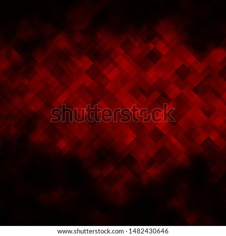 Dark Red vector texture in rectangular style. Rectangles with colorful gradient on abstract background. Pattern for commercials, ads.