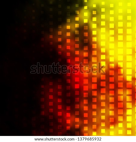 Dark Red, Yellow vector backdrop with rectangles. Rectangles with colorful gradient on abstract background. Template for cellphones.