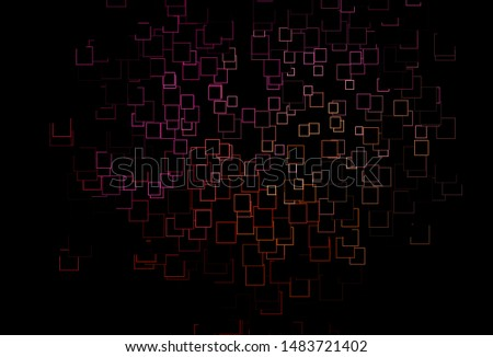 Dark Red, Yellow vector template with crystals, rectangles. Rectangles on abstract background with colorful gradient. Pattern can be used for websites.