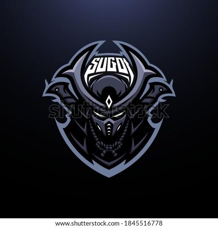 Dark Samurai with Katana Mascot Logo