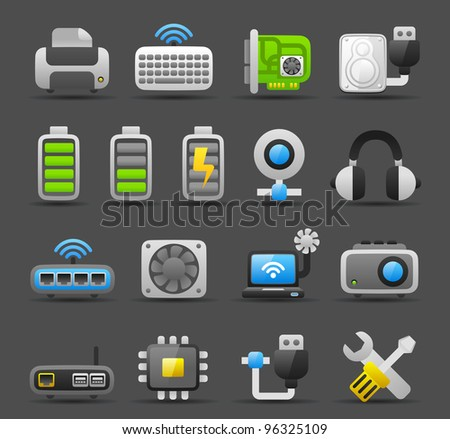 Dark series | Computer Gadgets icon set