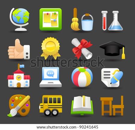 Dark series | school,education icon set