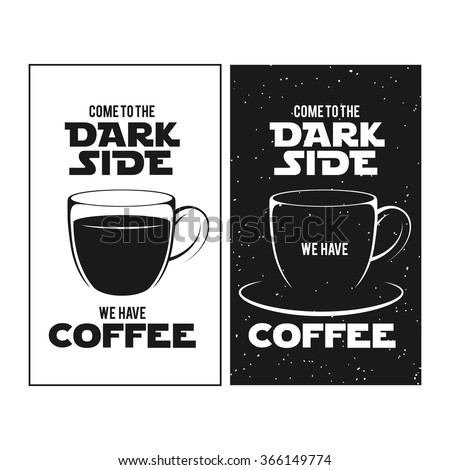 dark side of coffee print
