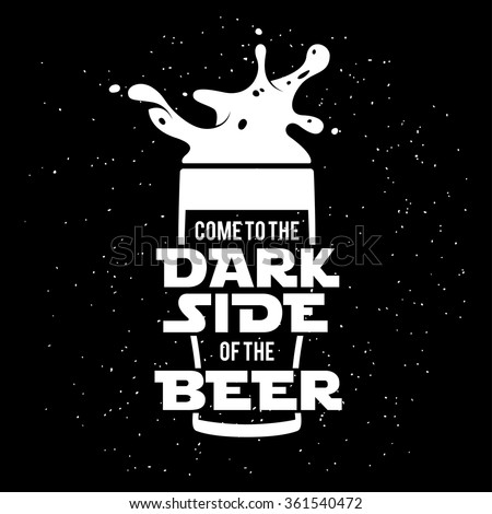dark side of the beer print