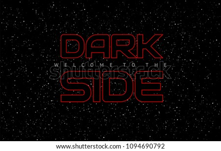 dark side space weapon abstract