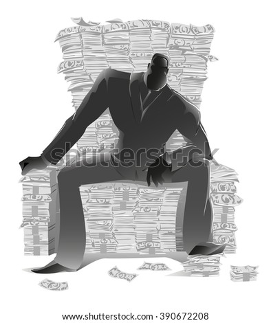 dark silhouette  businessman in