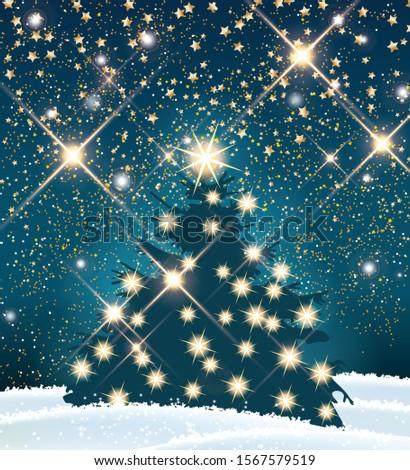 dark silhouette of christmas