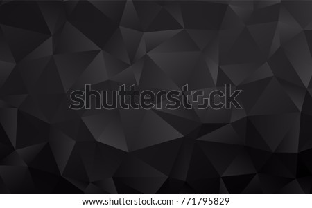 Stock Photo Dark Silver, Gray vector abstract polygonal pattern. A vague abstract illustration with gradient. The elegant pattern can be used as part of a brand book.