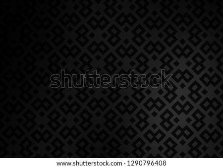 Dark Silver, Gray vector backdrop with rectangles, squares. Rectangles on abstract background with colorful gradient. The template can be used as a background.