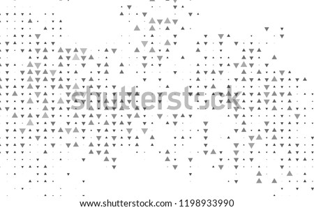 Dark Silver, Gray vector cover in polygonal style. Modern abstract illustration with colorful triangles. Pattern for commercials.