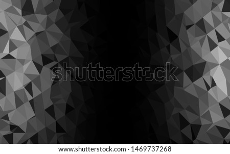 Dark Silver, Gray vector polygon abstract backdrop. A sample with polygonal shapes. Polygonal design for your web site.