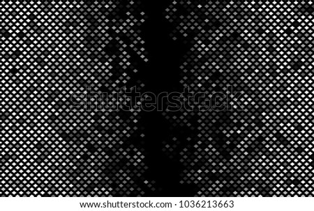 Dark Silver, Gray vector polygonal illustration consisting of rectangles. Rectangular design for your business. Creative geometric background in origami style with gradient.