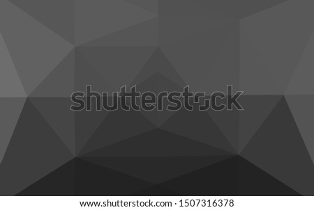 Dark Silver, Gray vector shining triangular background. Shining illustration, which consist of triangles. Brand new style for your business design.