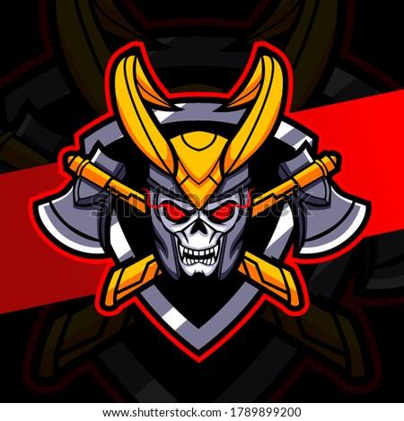 dark skull king mascot esport