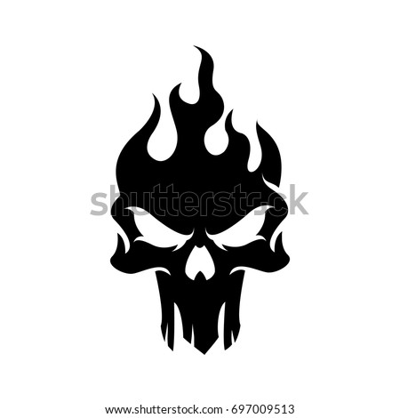 dark skull logo template