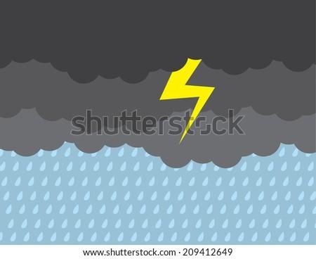 dark stormy clouds raining with