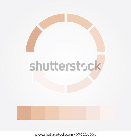 dark to light chart skin tones