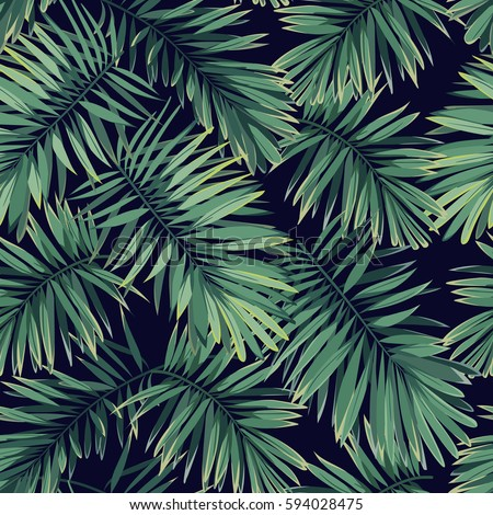dark tropical pattern with