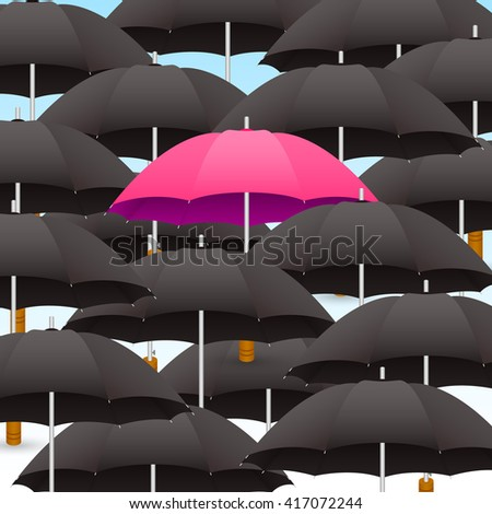 dark umbrellas  light umbrella