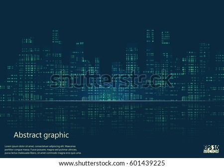 dark urban scape night city