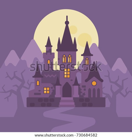 dark vampire castle in the