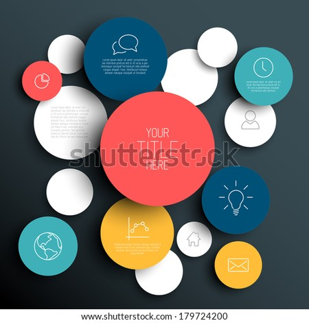 dark vector abstract circles