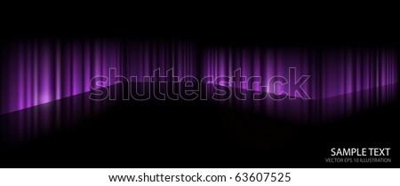 Dark vector purple scene on reflective surface - Dark purple background illustration