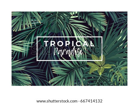 dark vector tropical typography
