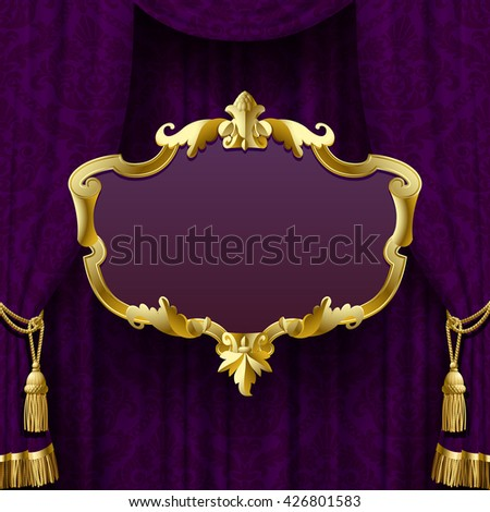 dark violet curtain with