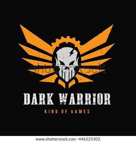 dark warrior logo rock and