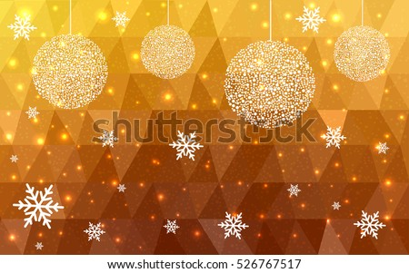 dark yellow christmas postcard