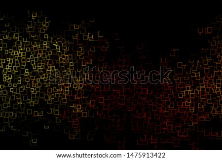 Dark Yellow, Orange vector layout with lines, rectangles. Rectangles on abstract background with colorful gradient. Modern template for your landing page.