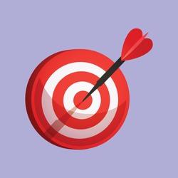 dart arrow bulls eye to target reach the goals vector