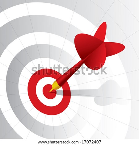 Dart right on the target