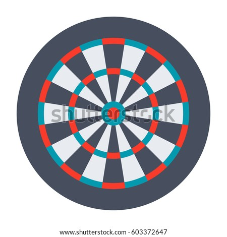 Dartboard for darts game, vector illustration in flat design