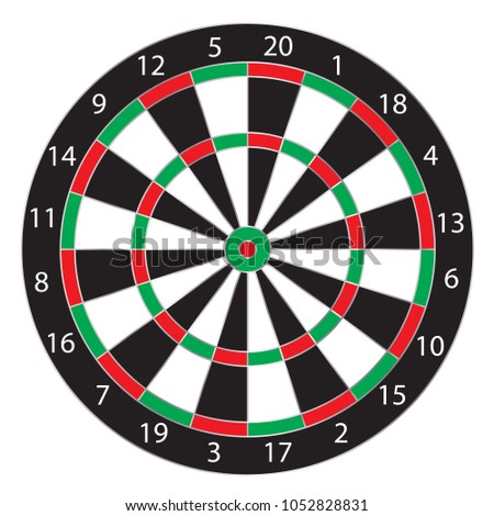 dartboard isolated  vector