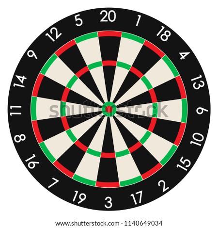 Dartboard. Professional design vector illustration