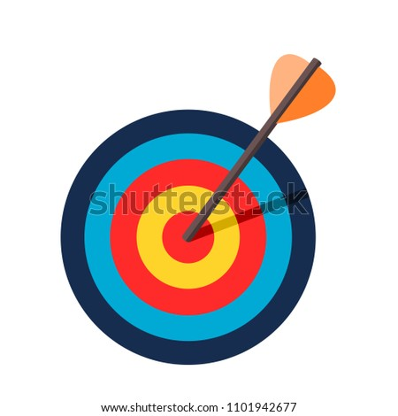 Dartboard target icons vector.