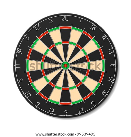 Dartboard. Vector.