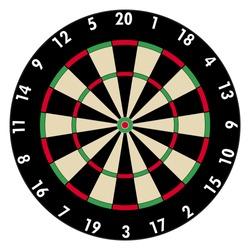 Dartboard vector. Professional  dart game model design illustration. Traditional pub game.