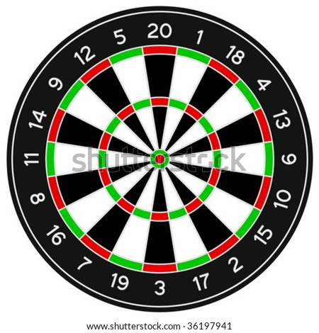 Darts isolated on a white background. Vector illustration.